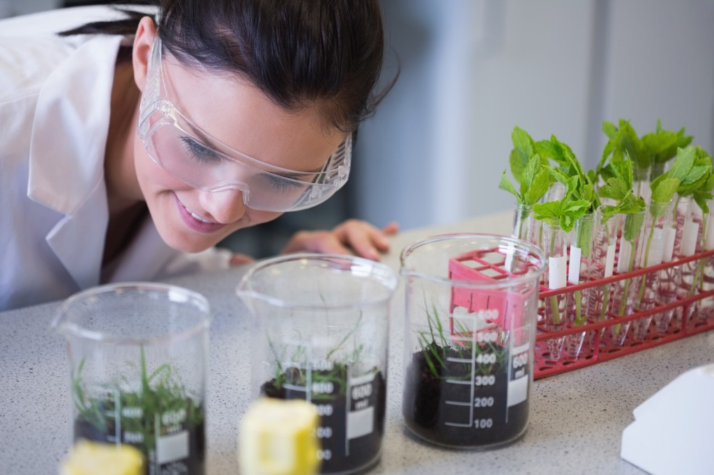 woman doing natural medicine research